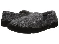 Acorn Fave Gore Charcoal Tweed Slippers Black
