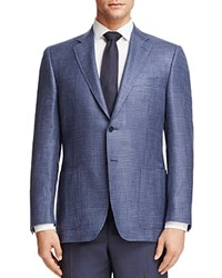 Canali Houndstooth Check Classic Fit Sport Coat Blue