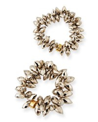 Nest Pyrite Bead Stretch Bracelets Set Of 2 Neutral Pattern