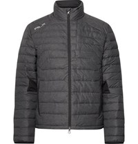 Rlx Ralph Lauren Quilted Shell Down Golf Jacket Gray