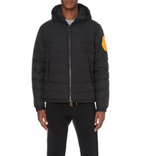 Moncler X Off White Hooded Quilted Jacket Black