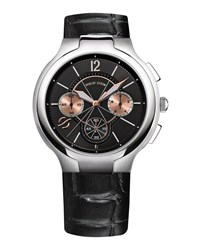 Philip Stein Teslar 45Mm Chronograph Watch W Calfskin Strap Black