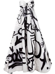 Moschino Graffiti Print Gown Grey