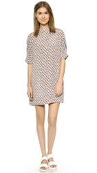 Joseph Nate Mixed Print T Shirt Dress Stone Combo