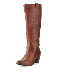 Frye Jackie Tall Leather Riding Boot Redwood Women's