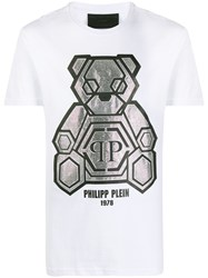 Philipp Plein Rhinestone Teddy Bear T Shirt 60