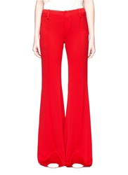 Ms Min Crepe Bell Bottom Pants Red
