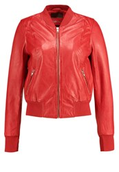 Freaky Nation Harlem Leather Jacket Red