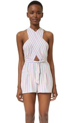 6 Shore Road Cargo Wrap Romper Multi Stripe