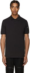 Y 3 Black Piqua Polo