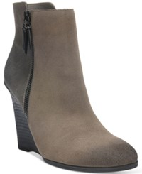 Fergie Aurora Wedge Booties Women's Shoes Shadow