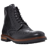 Bertie Cyrus Leather Brogue Boots Black