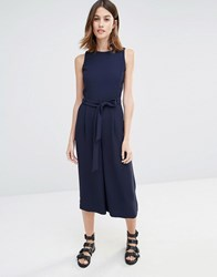 Warehouse Culotte Jumpsuit Navy