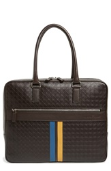 Salvatore Ferragamo 'Gamma' Leather Briefcase Coffee