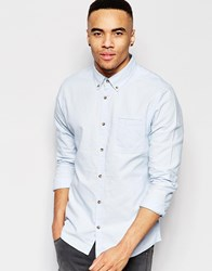 D Struct Basic Oxford Shirt Blue