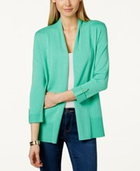 Charter Club Petite Open Front Cardigan Only At Macy's Chilled Mint