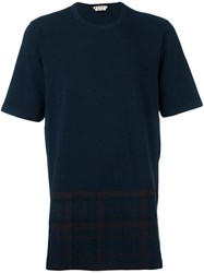 Marni Check Panel T Shirt Blue