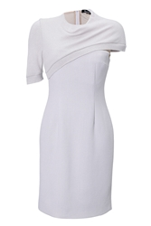 Marios Schwab Asymmetric Sleeve Knit Crepe Dress