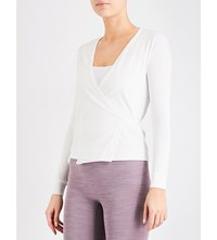 Pepper And Mayne Signature Stretch Jersey Ballet Wrap Ivory