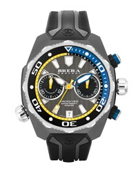 47Mm Prodiver Chronograph Watch Black Silver Men's Brera