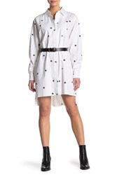 Current Elliott The Rosie Star Print Shirt Dress Porc W Str