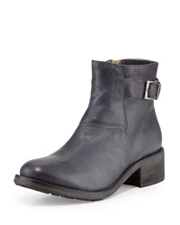 Modern Vintage Gia Short Leather Boot Navy