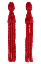 Oscar De La Renta Women's Long Beaded Tassel Drop Earrings