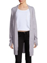 Rta Serge Distressed Cashmere Cardigan Ice