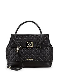 Love Moschino Quilted Satchel Black