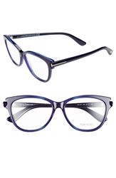 Tom Ford 55Mm Optical Glasses Online Only Blue Palladium Blue