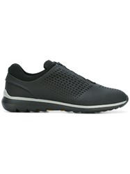 Z Zegna Perforated Detailing Sneakers Black