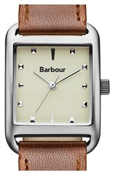 Women's Barbour 'Heritage' Leather Strap Watch 25Mm X 24Mm