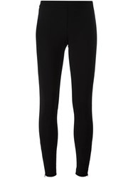 Twin Set Zipped Ankle Leggings Black