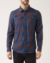 G Star Red And Blue Checked Tacoma Slimfit Shirt