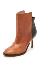 Maison Martin Margiela Two Tone Leather Booties Black Brown