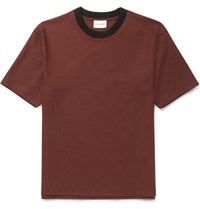 Solid Homme Brushed Wool Blend T Shirt Red