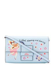 Etro Start Dreaming Printed Clutch Bag Blue