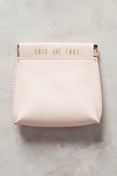 Anthropologie Jet Set Mini Pouch Coral