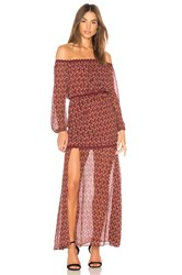 Finders Keepers Drift Off The Shoulder Maxi Dress Wine
