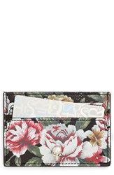 Alexander Mcqueen Women's Floral Print Leather Card Holder