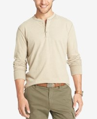 G.H. Bass And Co. Men's Big And Tall Long Sleeve Henley Plaza Taupe