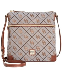 Dooney And Bourke Maxi Quilt Americana Signature Crossbody A Macy's Exclusive Style Grey Tan
