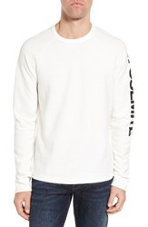 James Perse Men's Raglan Waffle Jersey Pullover White