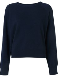 T By Alexander Wang Crew Neck Jumper Blue