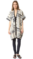 Zero Maria Cornejo Gaban Coat Chalk Black