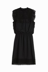Andrew Gn Plumetis Lace Dress Black