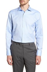 John W. Nordstrom Big And Tall Traditional Fit Dot Dress Shirt Blue Bel Air