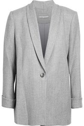 Alice Olivia Marled Brushed Woven Blazer Light Gray