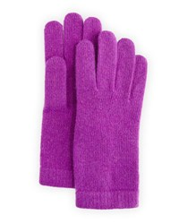Portolano Cashmere Basic Knit Gloves Iris True Purple