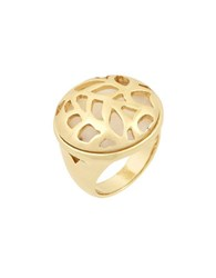 Laundry By Shelli Segal Pacific Highway Goldtone Leaf Cutout Ring